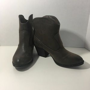 Rocket Dog Brown Faux Leather Western Style Boots